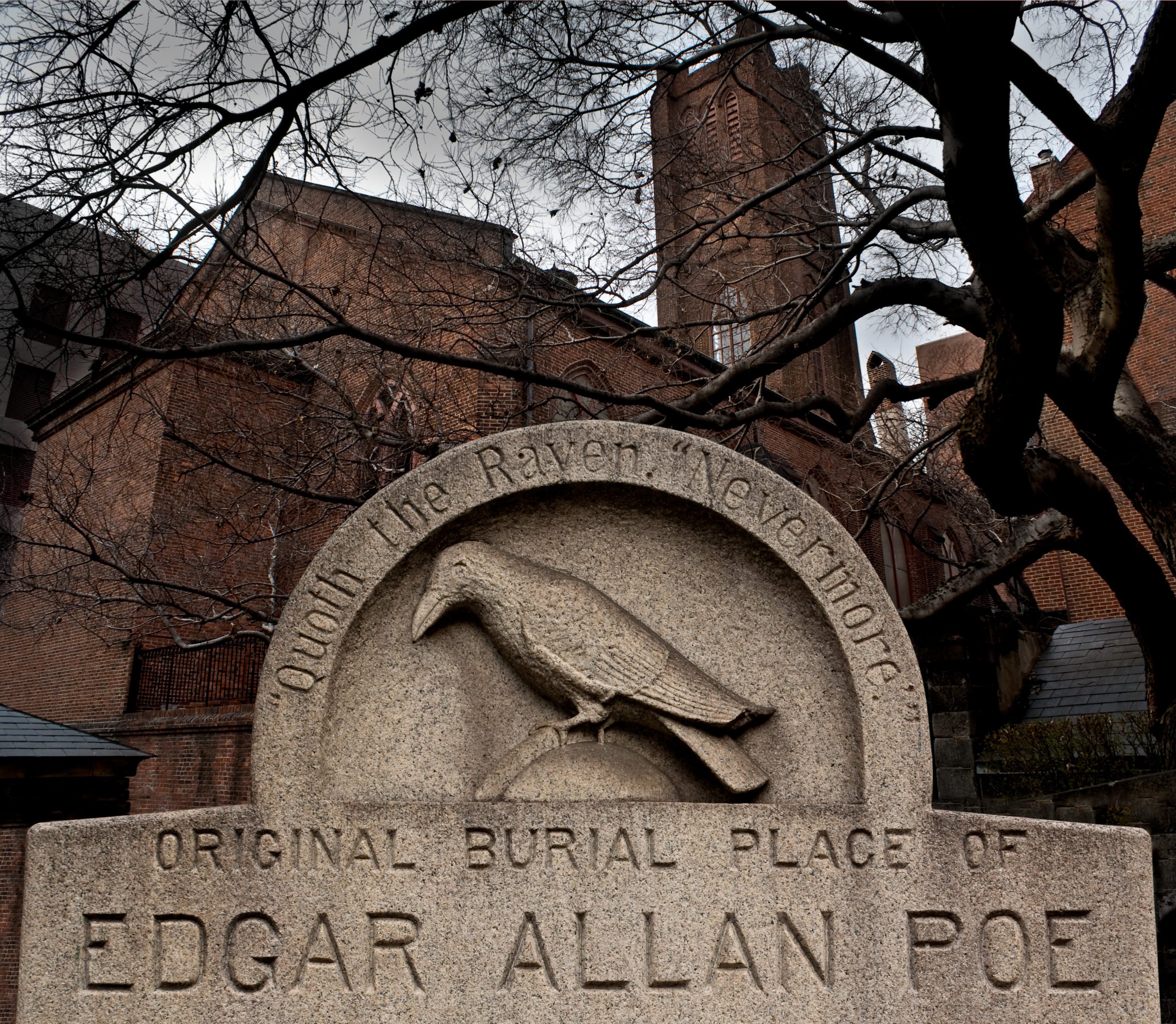 The exterior of Edgar Allen Poe's house - famous Maryland residents