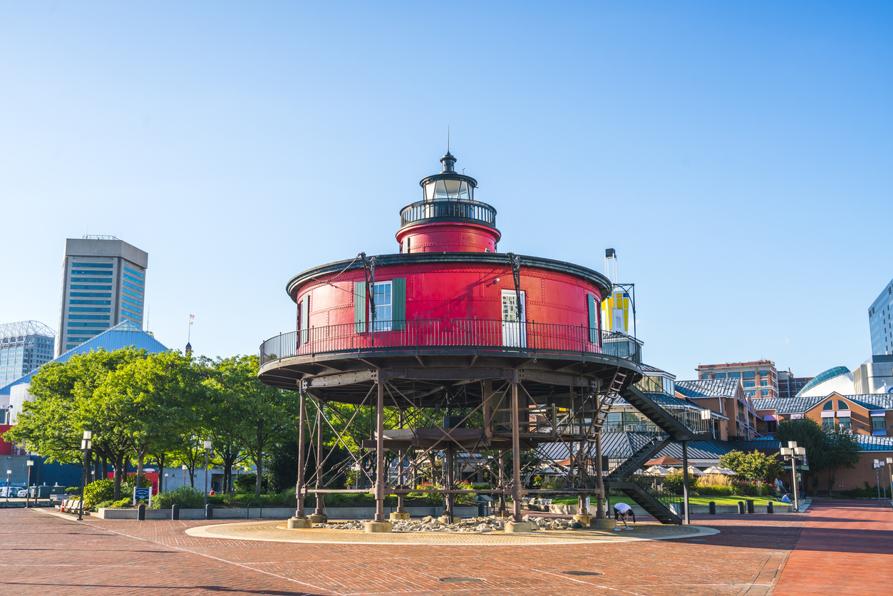 seven foot knoll lighthouse | historical sites near Jessup