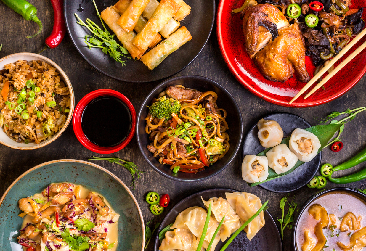 variety of chinese food on a table | Chinese food in Jessup